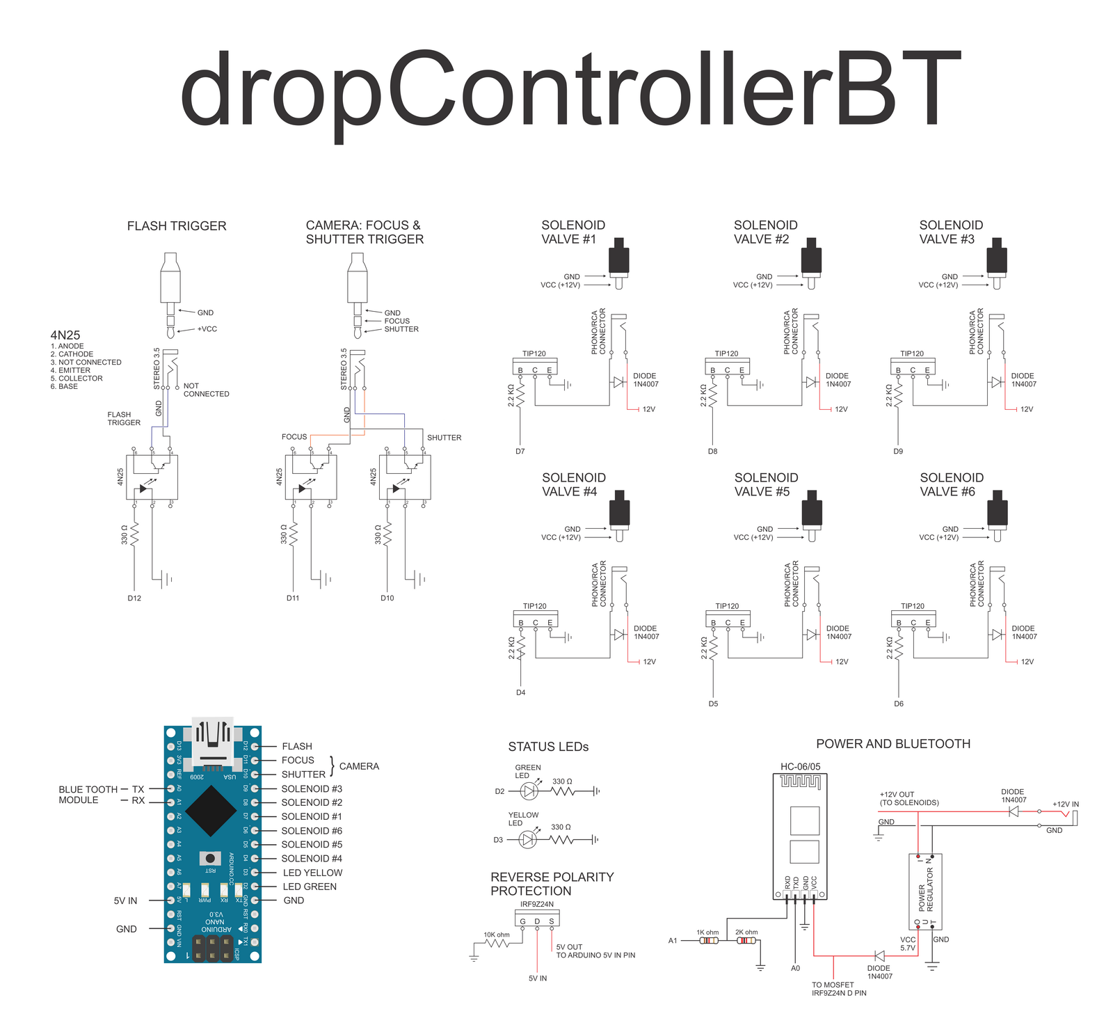 dropcontrollerbt bread board circuit diagram wire data schema u2022 rh kiymik co Breadboard Wiring Breadboard Pin Diagram