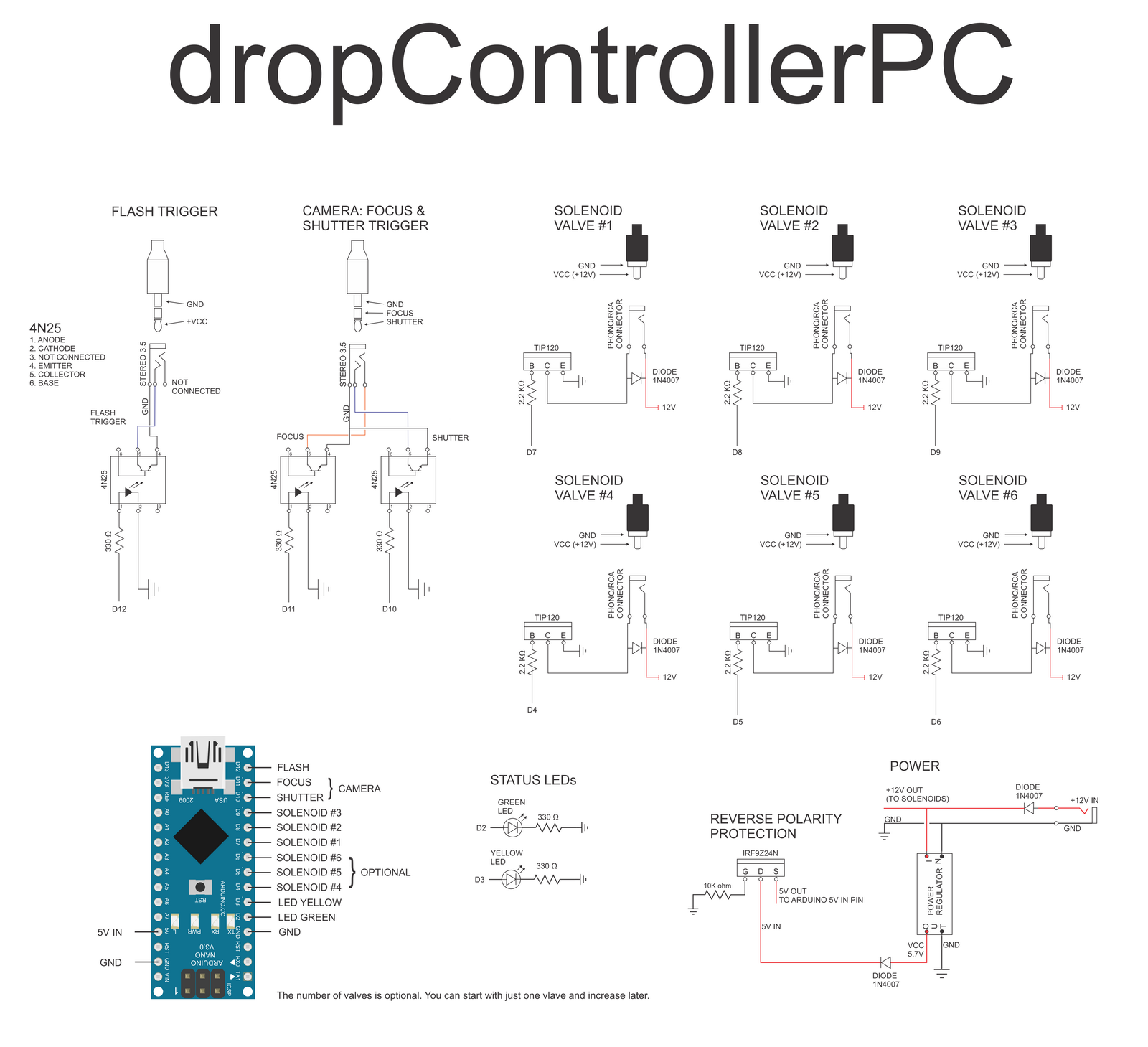dropcontroller   diy arduino solenoid valve controller for ... drop in oven wiring diagram #8