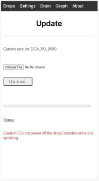 dropControllerV4_Updating the firmware