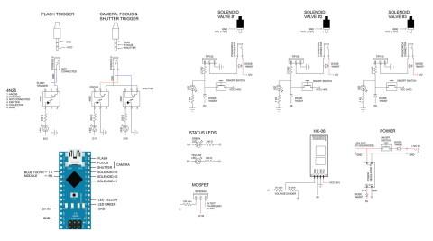 dropControllerBT Bread Board Circuit Diagram