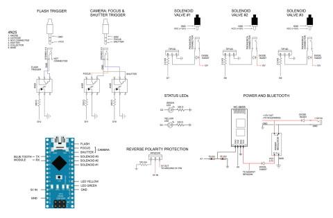 dropControllerBT Perf Board Circuit Diagram
