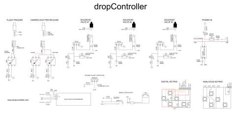 dropController Bread Board Circuit Diagram
